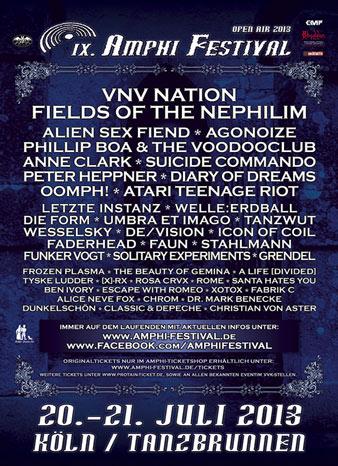 Erste Bandbestätigungen für das AMPHI FESTIVAL 2013! 14 Namen fix!