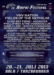 Amphi Festival 2013 - official flyer