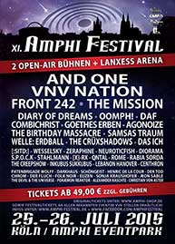 Amphi Festival 2015 - official flyer