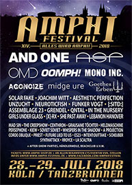 Amphi Festival 2018 - official flyer