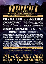 Amphi Festival 2021 - official flyer